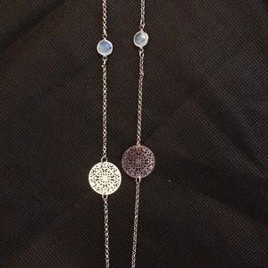NWT Rose gold colored necklace and earring set